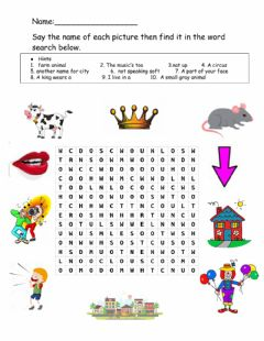 Interactive worksheet Ou-ow wordsearch