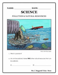 Interactive worksheet Pollution and Natural Resources