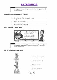 Interactive worksheet Ortografía