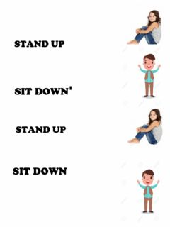 Interactive worksheet Stand up sit down