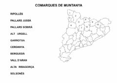 Interactive worksheet Comarques de muntanya