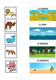 Interactive worksheet Tipos de habitats