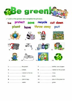 Interactive worksheet BE GREEN 1 GOING TO