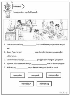 Interactive worksheet Tatabahasa