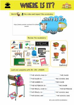 Interactive worksheet Where is it?