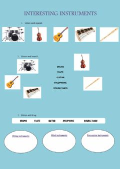 Interactive worksheet Instruments