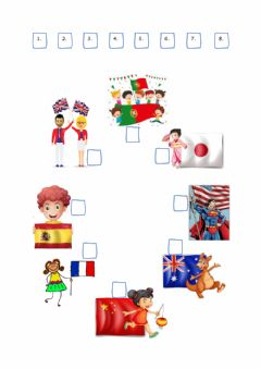 Interactive worksheet Where are you from?