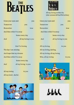 Interactive worksheet All my loving