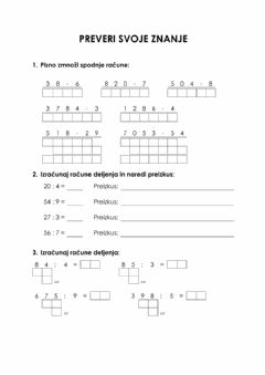 Interactive worksheet Preverjanje