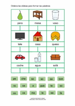 Interactive worksheet Formar palabras