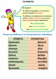 Interactive worksheet Τα επίθετα