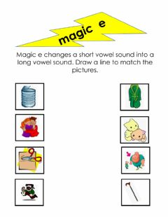 Ficha interactiva Magic E worksheet 2