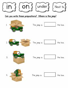 Interactive worksheet Where is the jeep?