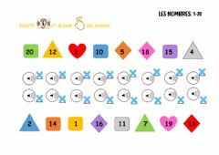 Interactive worksheet Les nombres: 1-20