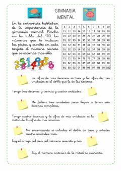 Interactive worksheet Gimnasia mental