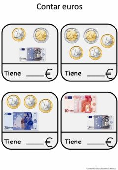 Interactive worksheet Contar euros