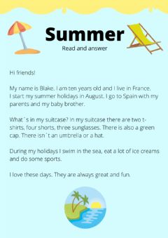 Interactive worksheet Summer reading