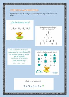 Interactive worksheet Acertijos matemáticos