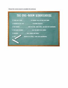Interactive worksheet The One-Room Schoolhouse