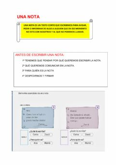 Interactive worksheet Escribo una nota