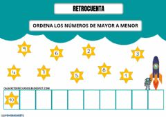 Interactive worksheet Retrocuenta del 0 al 10