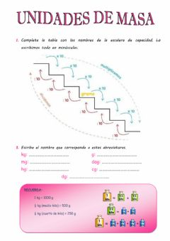 Interactive worksheet Escalera de masa