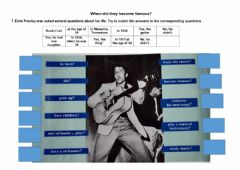 Interactive worksheet When did they become famous