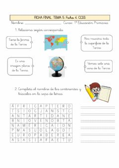 Interactive worksheet Ficha final. La tierra