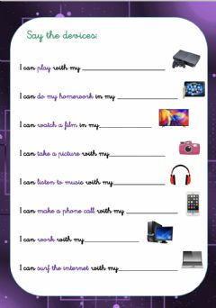 Interactive worksheet Devices speaking