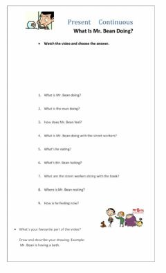Interactive worksheet MR. BEAN INTERACTIVE FOR P. CONTINUOUS 1
