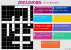 Interactive worksheet CROSSWORD-Jobs and professions by Mariola
