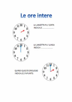 Interactive worksheet Orologio 1
