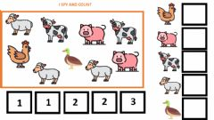 Interactive worksheet I spy and count