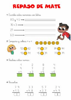 Interactive worksheet Repaso de mates 01