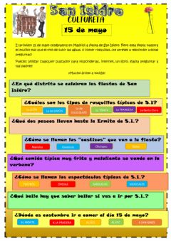 Interactive worksheet San Isidro