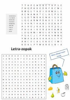 Interactive worksheet Letra-zopak