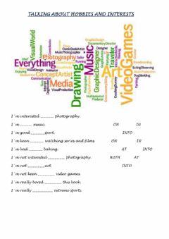 Interactive worksheet Talking about hobbies and interests