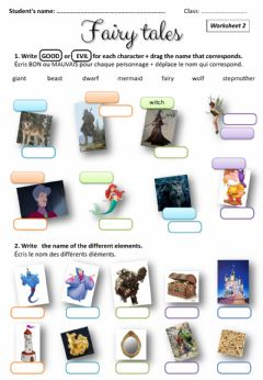 Interactive worksheet Fairy tales - vocabulary