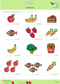 Interactive worksheet Food - there is-there are