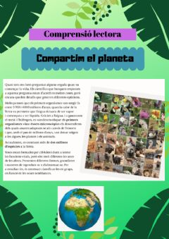 Interactive worksheet Compartim el planeta