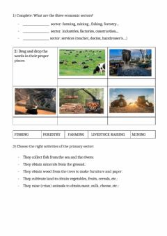 Interactive worksheet Economy and population 1