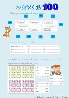 Interactive worksheet Oltre il 100