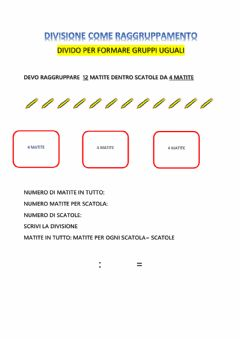 Interactive worksheet Divisione come raggruppamento