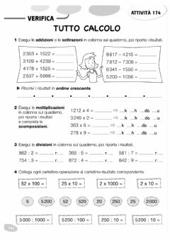 Interactive worksheet Calcoli in colonna