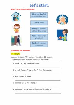 Interactive worksheet Wordsearch about coronavirus