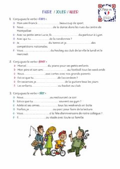 Interactive worksheet Faire-Jouer-Aller