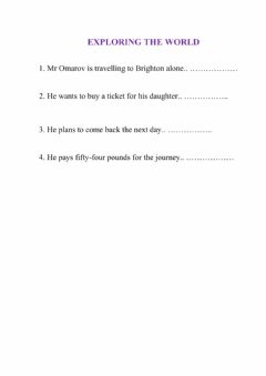 Interactive worksheet Buying a train ticket