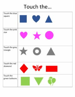 Interactive worksheet Listening and Identifying