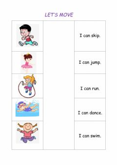 Interactive worksheet Let's move