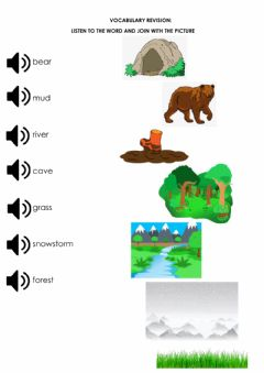 Interactive worksheet Story: We're going on a bear hunt